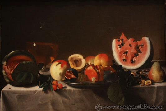 """National Gallery of Art - """"Still Life with Fruit and Carafe"""" by Pensionante del Saraceni"""