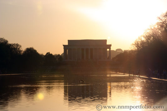 Washington DC Monuments - The Lincoln Memorial & Reflecting Pool