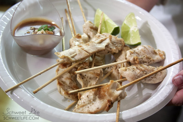 Chicken Satay with Peanut Jivara Sauce 