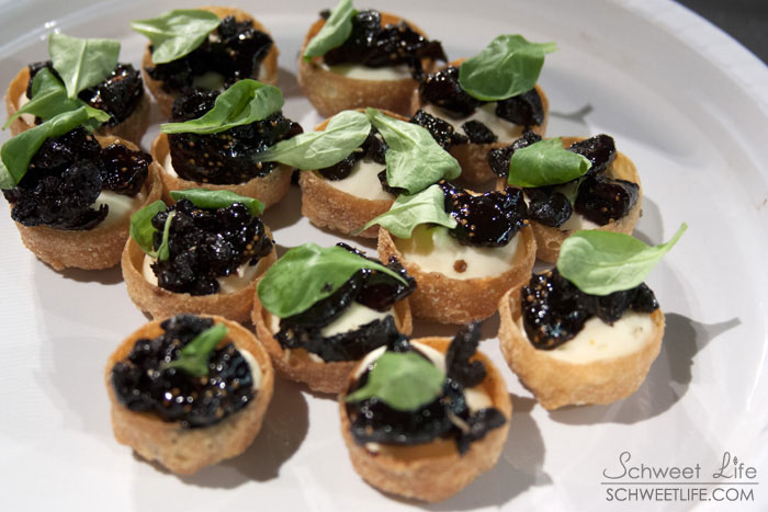 Ivoire Goat Cheese Tartlets with Figs &amp; Black Olives