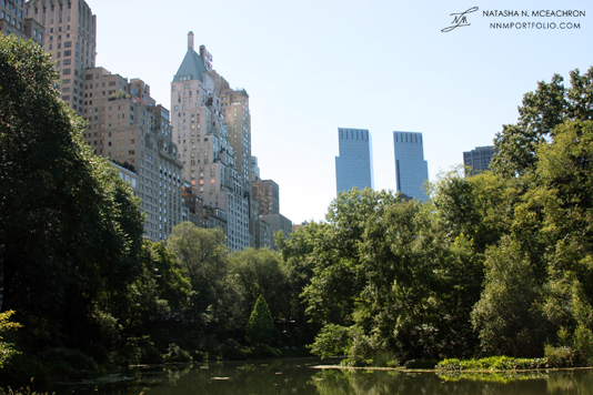 Central Park - 59th St & Time Warner Center from The Pond
