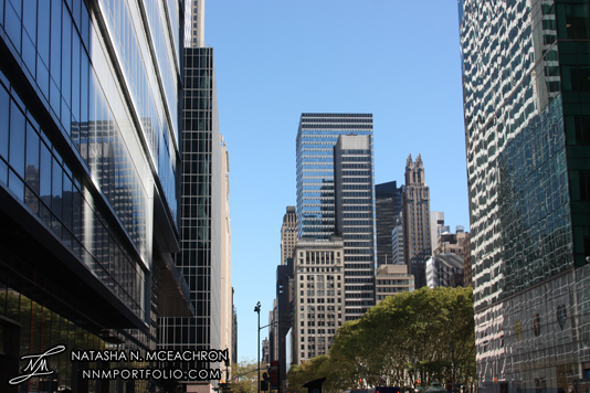 Midtown Manhattan Architecture - Bank of America Tower & 42nd Street